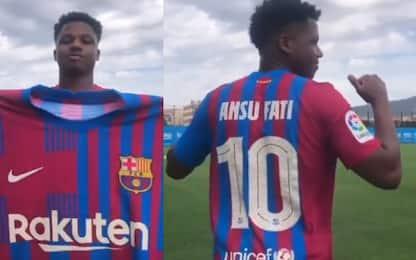 Barcellona, la 10 di Messi va ad Ansu Fati