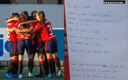 """Giocatrice dell'Osasuna minacciata: """"Ti violento"""""""
