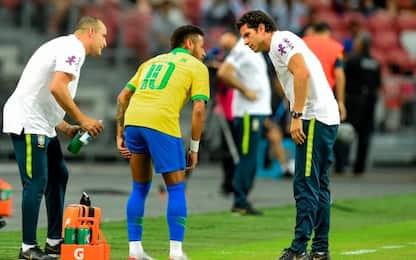 Neymar, un mese out: lesione al bicipite femorale