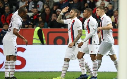 Nizza-PSG 1-4, gol e assist per Icardi