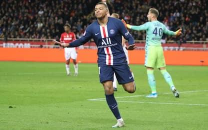 Psg travolgente: 4-1 al Monaco, doppietta Mbappé