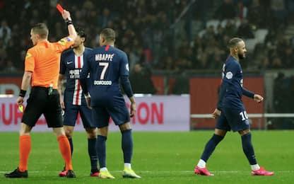 Neymar, reazione ed espulsione contro il Bordeaux