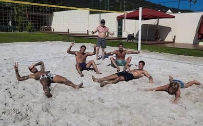 Amici e footvolley: la quarantena di Neymar. FOTO