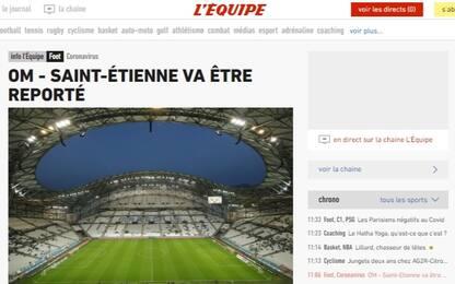4 positivi, OM-Saint-Etienne rinviata a settembre