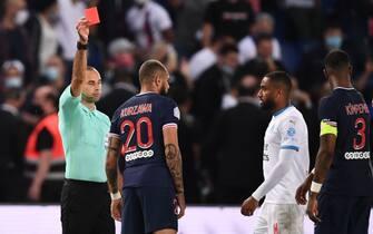 Kurzawa e Amavi vengono espulsi (PSG-OM Ligue 1)