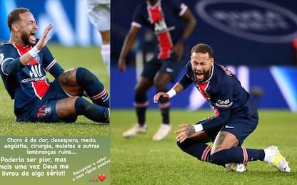 """Nessuna frattura per Neymar: """"Dio mi ha salvato"""""""