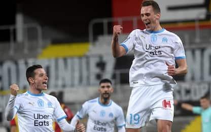 Milik segna al debutto ma l'OM fa 2-2 a Lens