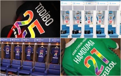 La Ligue 1 contro l'omofobia: le maglie dedicate