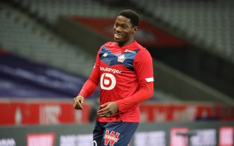 Jonathan David 9 losc during the French Championship Ligue 1 football match between Lille OSC and Girondins de Bordeaux on December 13, 2020 at Pierre Mauroy stadium in Villeneuve-d'Ascq near Lille, France - Photo Laurent Sanson / LS Medianord / DPPI / LM