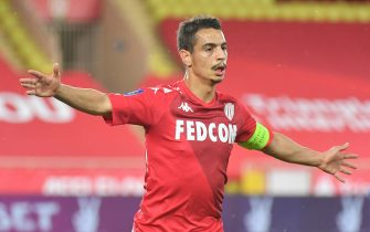 Monaco's Ben Yedder joy during theLigue 1 Monaco (ASM) v Stade Rennais FC football match at the Louis II Stadium in Monaco on May 16, 2021. Photo by Christian Liewig/ABACAPRESS.COM