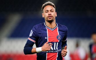 """File photo dated May 16, 2021 of Neymar during the French Ligue 1 football match between Paris Saint Germain (PSG) and Stade de Reims (SR) at the Parc des Princes stadium, in Paris, France. Nike said Thursday it parted ways with Neymar last year after the superstar Brazil attacker """"refused to cooperate in a good faith investigation"""" as the company probed an employee's claim that he sexually assaulted her. The apparel giant said in a statement that its investigation into the alleged 2016 incident -- which was reported to the company in 2018 -- was inconclusive. Photo by Julien Poupart/ABACAPRESS.COM"""