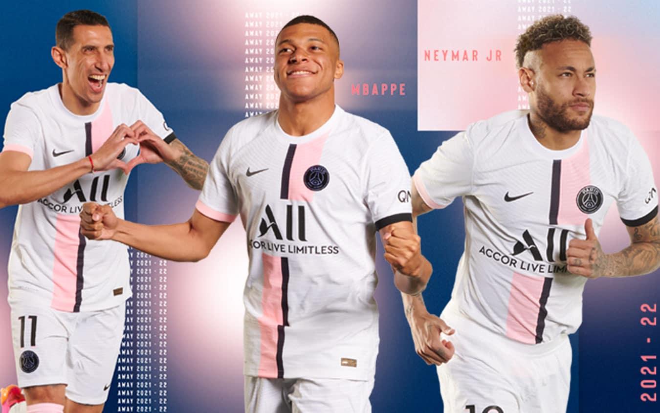 Psg, la seconda maglia 2021-22 presentata dai suoi campioni. FOTO ...
