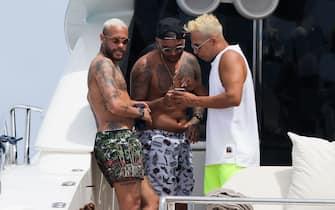 Soccerplayer Neymar on holidays in Ibiza, on Monday 02 August 2021