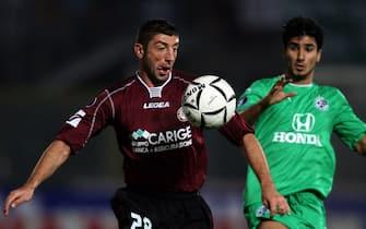 LIVORNO 29 NOVEMBRE 2006-COPPA UEFA-LIVORNO-MACCABI PASSONI A SIX E LIOR RAFAELOV FRANCO SILVI-ANSA