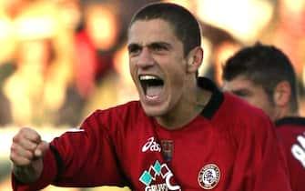 foto franco silvilivorno 20 novembre 2005livorno-fiorentinal' esultanza di morrone del livorno dopo il gol del 1a0