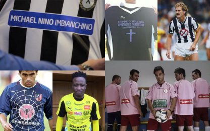 Maglie e sponsor strani: i più curiosi nel calcio