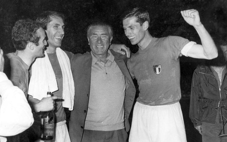 Sandro Mazzola, Bercellino, Ferruccio Valcareggi e Giacinto Facchetti