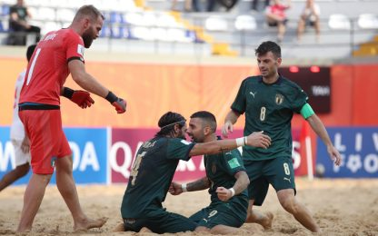 Mondiali Beach Soccer, debutto super per l'Italia