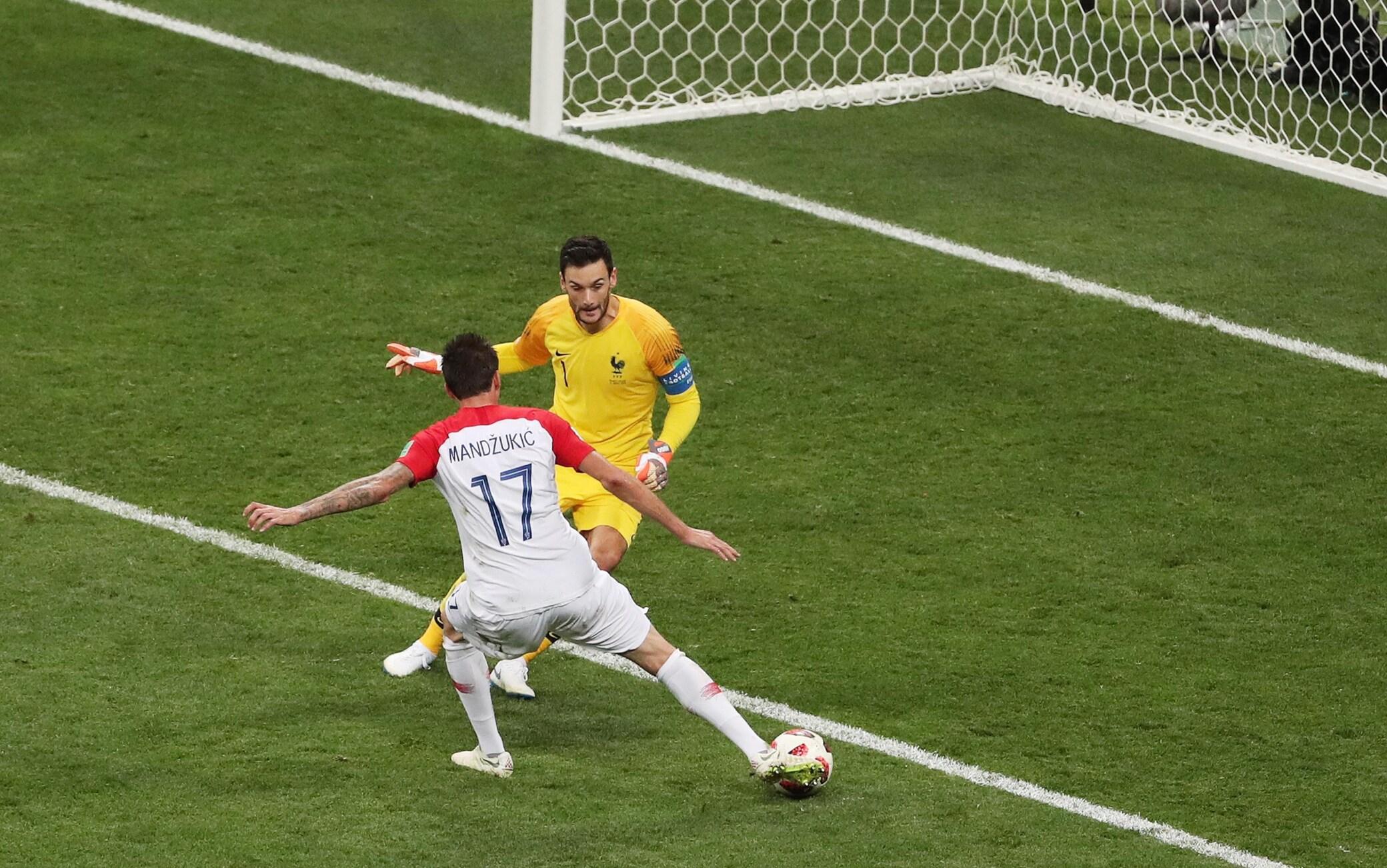 Gol di Mandzukic nella finale Francia-Croazia