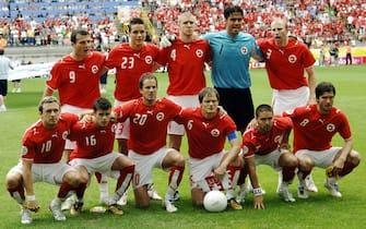 STEFANO RACCAMARI/LAPRESSE19-06-2006 DORTMUNDSPORT CALCIO TOGO SVIZZERA WORLD CUP 2006NELLA FOTO:formazione svizzera