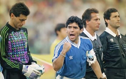 Maradona celebra l'Argentina di Italia '90. VIDEO