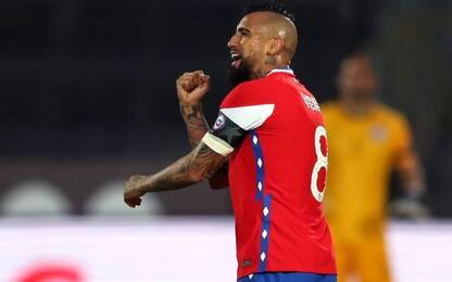 Vidal show col Cile: doppietta contro il Perù