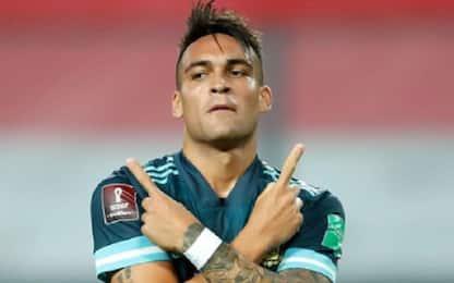 Argentina, c'è la firma di Lautaro nel 2-0 al Perù