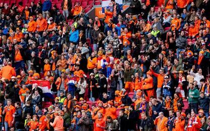Olanda-Lettonia con i tifosi, un esperimento Covid