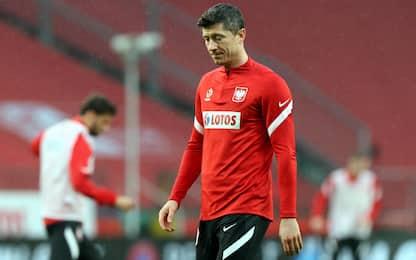Lewandowski fuori un mese, salta la sfida col Psg