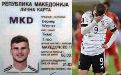 Errore a porta vuota, Werner diventa eroe macedone