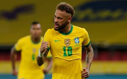 Richarlison-Neymar: il Brasile batte l'Ecuador 2-0