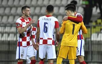 Rijeka, 270321.Rujevica Stadium.Qualifying match for the World Cup between Croatia and Cyprus.Photo: Matija Djanjesic, Ronald Gorsic / CROPIX / SIPA//HMCROPIX_1911.12563/2103281348/Credit:HM CROPIX/SIPA/2103281354