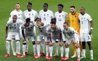 KYIV, UKRAINE - SEPTEMBER 4, 2021 - Players of France are pictured before the FIFA World Cup Qatar 2022 Qualification Round UEFA Group D match against Ukaine at the NSC Olimpiyskiy, Kyiv, capital of Ukraine.