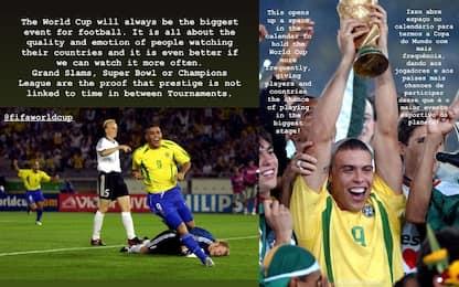 """Ronaldo: """"Mondiale ogni 2 anni? Più spettacolo"""""""