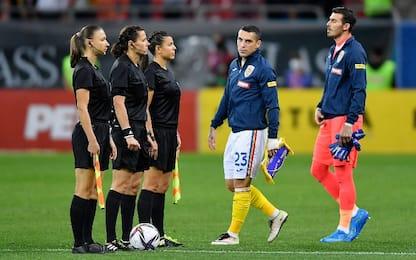 Squadra arbitrale femminile in Andorra-Inghilterra