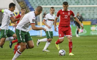 Fedor Chernykh of LIthuania with the ball during Group C 2022 FIFA World Cup Qualifier between Bulgaria and Lithuania at Vasil Levski stadium in Sofia, Bulgaria on 05 September, 2021 (Photo by Georgi Paleykov/NurPhoto via Getty Images)