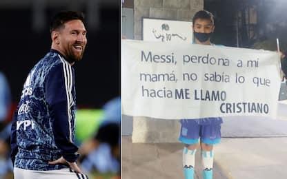 """Tifoso a Messi: """"Perdonami se mi chiamo Cristiano"""""""