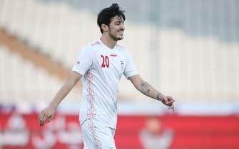 Sardar Azmoun of Iran during the International Friendly match between Iran and Syria at Azadi Stadium in Tehran, Iran.  (Photo by Alireza Zeinali/SPP/Sipa USA)