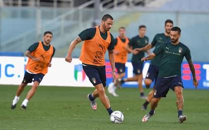 Mancini fa le prove: l'11 che sfiderà la Bosnia