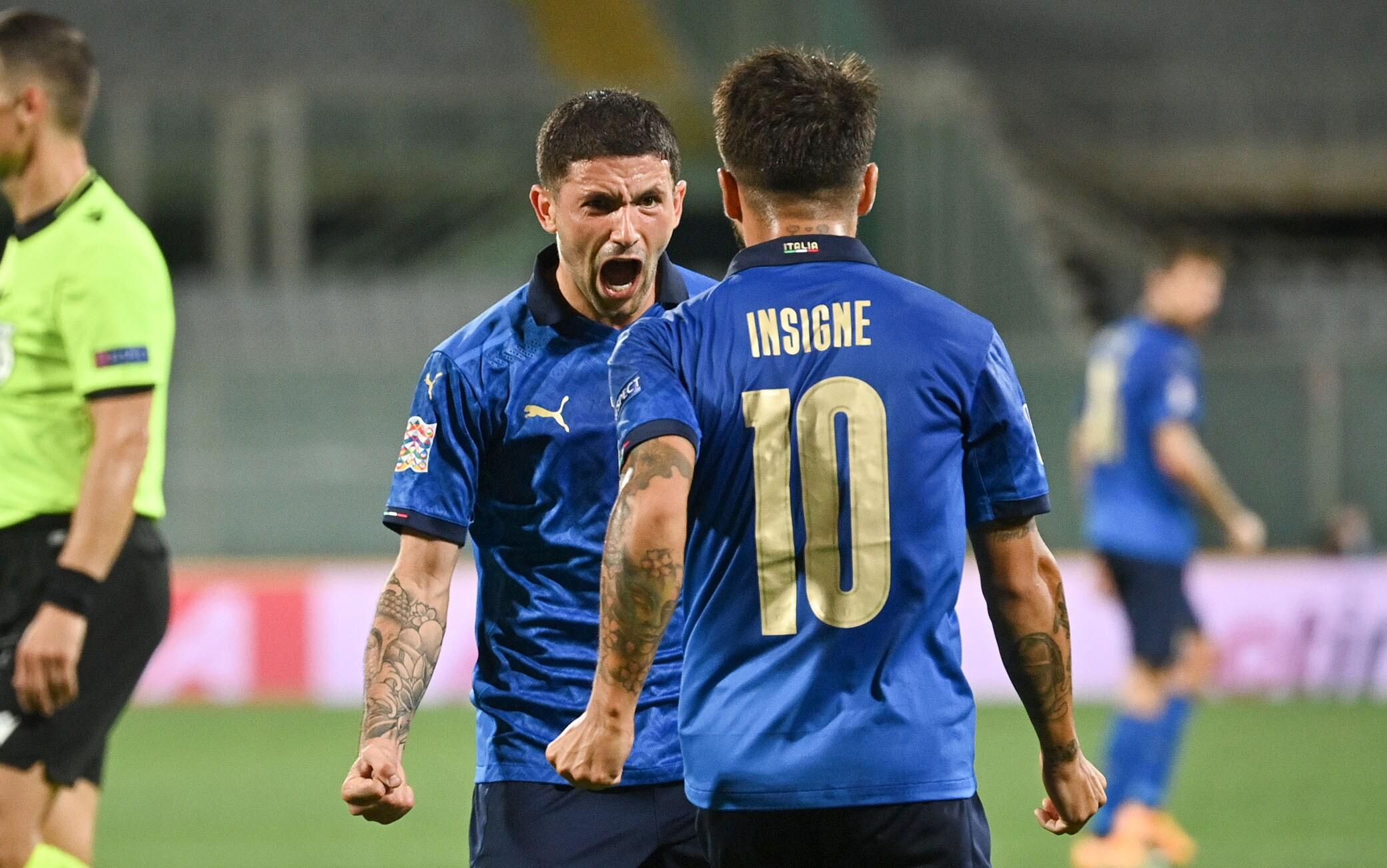 Italia Bosnia 1-1, gol di Dzeko e Sensi. Sfuma la 12^ vittoria di fila in  Nations League