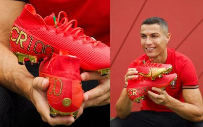 Ronaldo presenta i nuovi scarpini: le CR100. FOTO