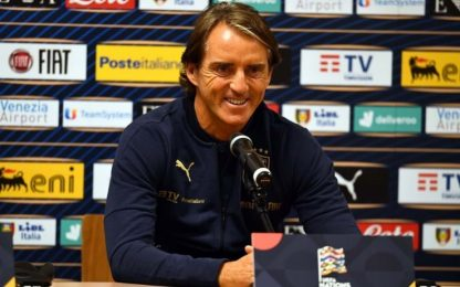"""Mancini: """"Nazionale migliora gara dopo gara"""""""