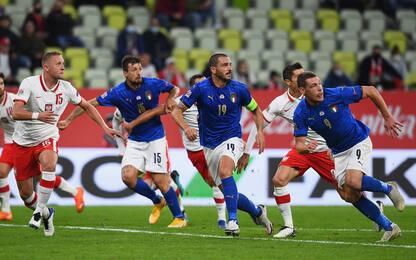 L'Italia attacca ma non segna: in Polonia è 0-0