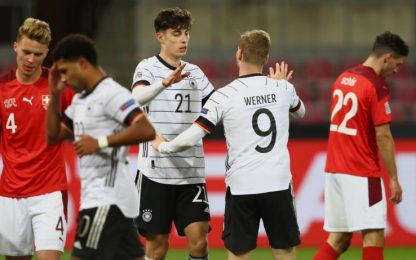 Germania-Svizzera 3-3, Spagna battuta in Ucraina