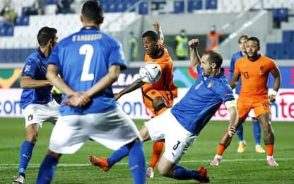 Italia, 1-1 con l'Olanda: ora è seconda nel girone