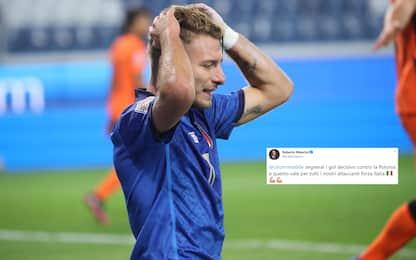 """Tutti con Immobile, Mancini: """"Farai gol decisivi"""""""