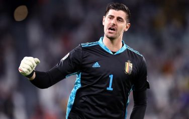 JUVENTUS STADIUM, TORINO, ITALY - 2021/10/07: Thibaut Courtois of Belgium  gestures during the  Uefa Nations League semi-final match between Belgium and France . France wins 3-2 over Belgium. (Photo by Marco Canoniero/LightRocket via Getty Images)