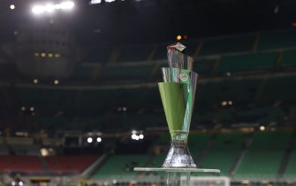 UEFA Nations League Finals 2021 Trophy during the UEFA Nations League Finals 2021 final football match between Spain and France at Giuseppe Meazza Stadium, Milan, Italy on October 10, 2021