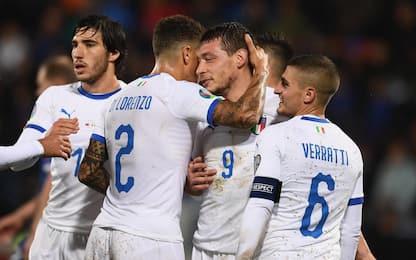 L'Italia fa 8 su 8: Liechtenstein travolto 5-0