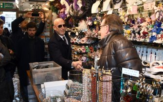VENICE, ITALY - NOVEMBER 16: Gianluca Vialli visits Venice during the high water on November 16, 2019 in Venice, Italy.  (Photo by Claudio Villa/Getty Images)